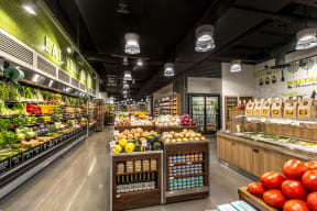 Onsite grocery store | The Merc at Moody and Main
