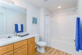 Large soaking tub in en-suite bathroom