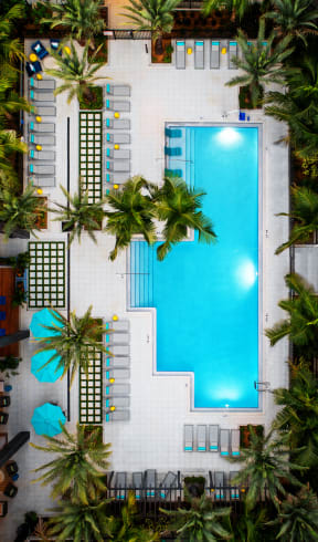 Aerial view of pool  | District at Rosemary