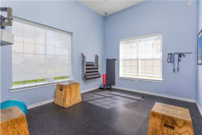 Fitness Center with stretch room  |Cypress Legends
