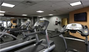 The fitness center is open 24 hrs/day  Residences at Manchester Place