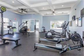 Fitness center with cardio machines  |Cypress Legends