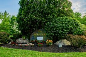 Entrance to Boulders community | community signage