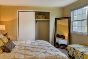 Spacious Bedroom With Closet| The Boulders
