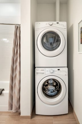 In-home washer and dryer | The Merc at Moody and Main
