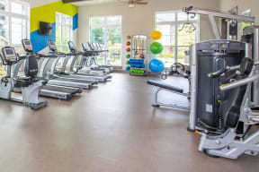 Nice One White Oak fitness equipment in exclusive fitness center amenity in Cumming, GA rental homes