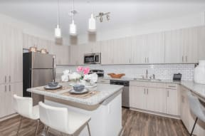 One White Oak Kitchen Furniture and Appliances in Georgia Apartments for Rent