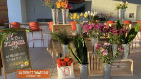 Flowers from flower bar event at The Q Variel, California, 91367