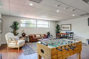Game Room at Le Blanc Apartment Homes, Canoga Park, CA