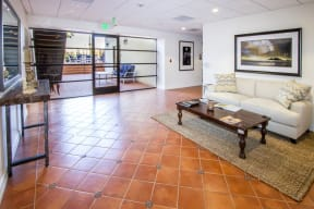 Resident Lobby at Le Blanc Apartment Homes, Canoga Park