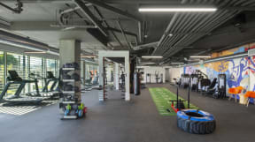 Fitness Center at The Q Variel - Luxury Apartments in Woodland Hills