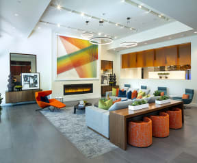 Resident Lounge at the Q Variel - Woodland Hills Luxury Apartment