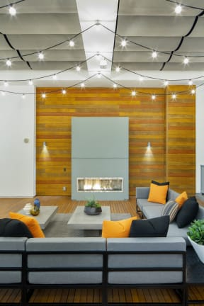 Relaxing Lounge and Seating Area at the Q Variel - Woodland Hills Luxury Apartment