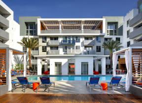 resort style pool the q variel luxury apartments woodland hills ca