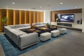 media room the q variel luxury apartments woodland hills ca