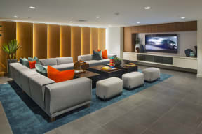 media room the q variel luxury apartments woodland hills ca
