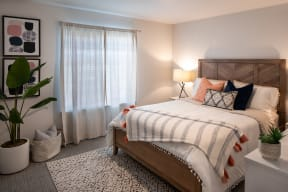 bedroom example for light finished layout