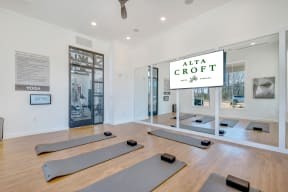 Flex Rooms With Fitness Space For Yoga, Spin And Pilates at Alta Croft, Charlotte, NC, 28269