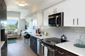 Burnside 26 in Portland, OR studio kitchen