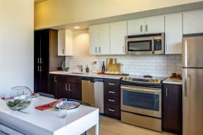 Burnside 26 in Portland, OR model kitchen