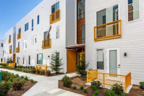 Apartments with patio areas