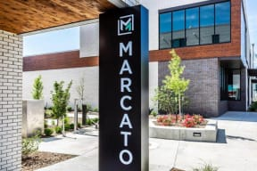 Marcato entry way sign