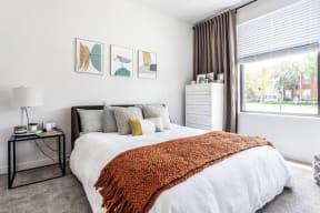 Model bedroom at Marcato