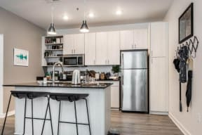 Model kitchen with updated appliances