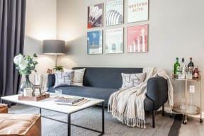 Model living room space