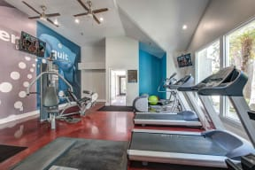 San Clemente, CA Apartments for Rent - Rancho Del Mar Fitness Center with Treadmills, Ellipticals, and Other Equipment