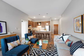 Open living space - Nuvelo at Parkside Apartments