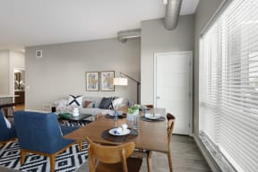Open and bright living space at Nuvelo at Parkside