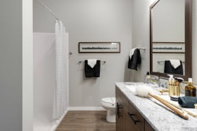 Modern bathroom Nuvelo at Parkside Apartments