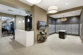 Galtier Towers Apartments in Lowertown, St. Paul, MN Refined Lobby