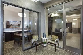 Galtier Towers Apartments in Lowertown, St. Paul, MN Polished Business Center