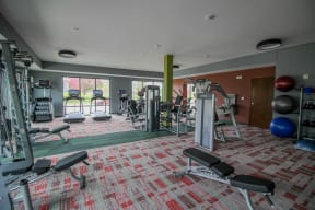 View of Fitness Center at Nuvelo at Parkside Apartments