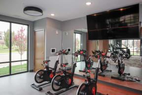 Fitness studio at Nuvelo at Parkside Apartments