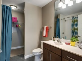 Be @ The Calhoun Greenway Apartment Bathroom with Sink and Shower