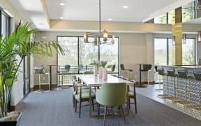 Community Room at Nuvelo at Parkside Apartments