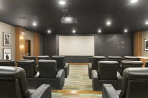 Movie Nights at Nuvelo at Parkside Apartments Theater Room
