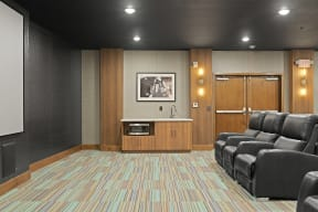 Theater Room at Nuvelo at Parkside Apartments