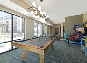 Billiards and Video Games at Nuvelo at Parkside Apartments