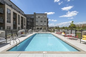Outdoor Pool at Nuvelo at Parkside Apartments in Apple Valley