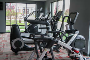 Fitness Center at Nuvelo at Parkside Apartments in Apple Valley