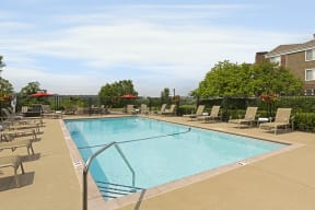 The Riverwood Apartments in Lilydale, MN Outdoor Pool