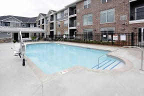 Outdoor Swimming Pool at The Edison at Spirit, Lakeville