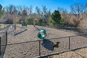 Dog Park at Alvista Trailside Apartments, Englewood