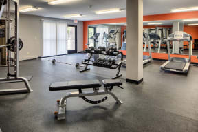 Fitness Center With Updated Equipment, at The Woods of Burnsville, Burnsville