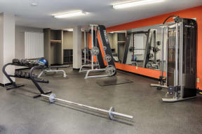 24-hour Fitness Center with Free Weights, at The Woods of Burnsville, Minnesota