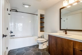 Bathroom with tub